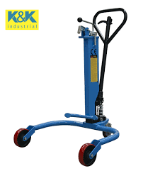 100 Drum Hand Truck Hydraulic Cart Picker For Industrial Oil S 550 Lbs