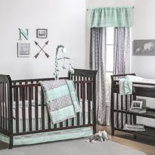 the peanut shell 3 piece baby crib bedding set mint green and