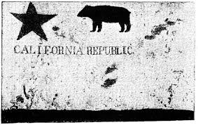 Photograph Of The Original Bear Flag California Taken In 1890
