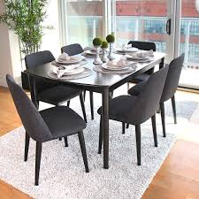 Wayfair Black Dining Room Sets by Dark Wrought Iron Dining Room Sets On Large Light Blue Rug Brown