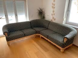 sofa sitzgarnitur günstig gut erhalten holz grün beige