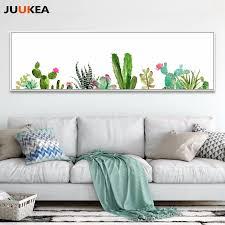 exclusive original nordic aquarell kaktus sukkulenten pflanzen leinwand drucken kunst wohnkultur malerei für wohnzimmer wand dekor