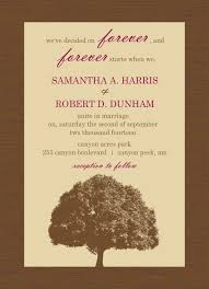Brown And Merlot Country Tree Wedding Invitation By PurpleTrail