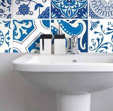 fliesenaufkleber für küche und bad portugiesisch patchwork blau weiß