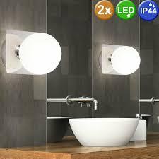 design wand leuchte led badezimmer le 5 watt glas spiegel