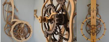 wooden gear clocks build an all wood clock with a precut clock