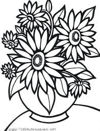 Adults Flower Page Printable Coloring Sheets Pages Flowers And Birds In Vase Free Gardens