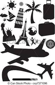 Travel Black And White Clipart 1