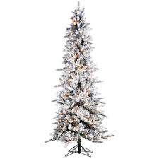 75 Flocked Christmas Tree by Sterling Inc Pre Lit Palm Tree 7 5 U0027 White Green Narrow Pencil Pine