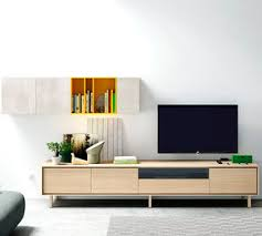 Contemporary Living Room Wall Unit Wooden