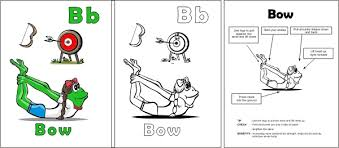 Kids Yoga Teacher Training Wit The Alphabet Uses Parnter And Safety Instructions