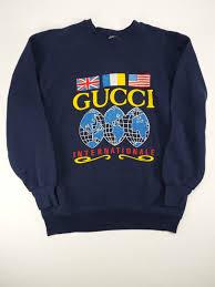 vintage gucci internationale logo sweatshirt 80s hip hop old