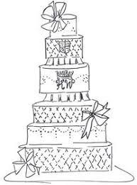Royal Wedding Cake Sketch