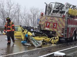 100 Fire Truck Accident Five People Injured When Car Slams Into Back Of Grand Rapids MI