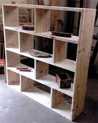 Reclaimed wooden future rustic room Divider Shelving Unit