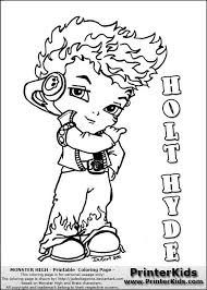 Printable Little Holt Hyde Coloring Pages