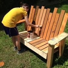 Build A Picnic Table Out Of Pallets by Garden Benches Wood Foter