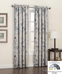 Sound Reducing Curtains Amazon by Amazon Com Sun Zero Kara Floral Print Energy Efficient Rod Pocket
