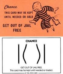Then Now 13 Monopoly Get Out Of Jail Free Card