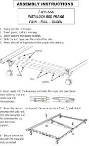 how to assemble the mantua i 495p bed frame http www matt to go