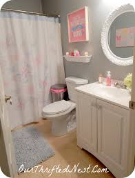 Guest Bathroom Decorating Ideas Pinterest by Bathroom Decor Small Little U0027s U0027s Butterfly Pink Gray Blue