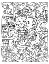 Coloring Page Adult Two Cute Cats Loving Print Color Pages Monster Truck Large Size