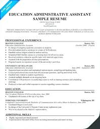 Boston College Resume Examples With Samples Administrative Assistant Cover Letter Classic Sample Executive