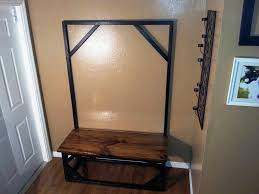 Entryway Bench With Coat Rack Image