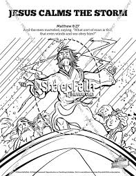 Jesus Calms The Storm Sunday School Coloring Pages