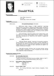 Resume Sample Form Samples Format Free Examples Professional Download Job Sensational Uae