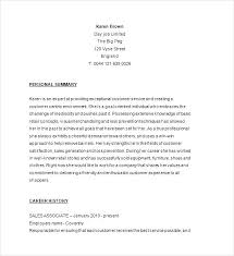 Sample Resume Retail Sales Associate No Experience For Samples Free Store