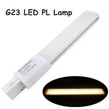 6w g23 led pl bulb l 2 pin base led horizontal light
