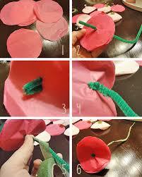 Diy Tissue Paper Flowers Step