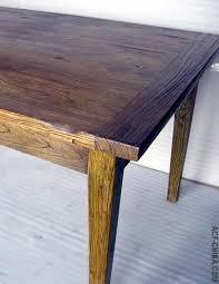 Wood Elm Dining Table Vintage Materials
