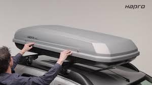 coffre de toit roady systa me de fixation hapro standard fit 2017 et coffre de toit