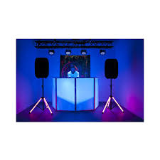 2 American Audio CSL 100 LED Powered Speaker Stands