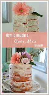 How To Double a Cake Mix Almost What Meegan Makes