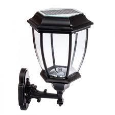 12 led outdoor garden l sconce wall lantern light black