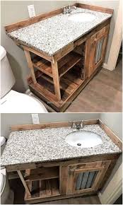 Diy Rustic Bathroom Vanity by Best 25 Pallet Vanity Ideas On Pinterest Diy Makeup Vanity