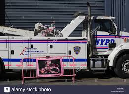 100 New Tow Trucks Heavy NYPD Police Tow Truck Parking In Violation Tow Service Pier 76