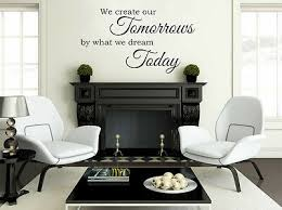 we create our tomorrows room wall quote sticker