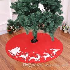 Red Christmas Tree Skirt Home Carpet Decoration For New Year Party Ornaments Gifts Festival Sale Xmas Decorations Sales