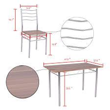 Amazon.com - Svitlife 5 Piece Dining Table Set Wood Metal ...