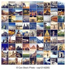 Collage Of Cities Stock Photo