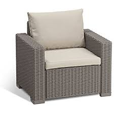 Amazon Prime Patio Chair Cushions by Amazon Com Keter Corfu Armchair All Weather Outdoor Patio Garden