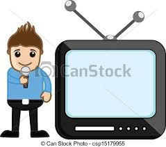 Tv Anchor Profession Concept Drawing Art Of Young Cartoon Rh Canstockphoto Com News Reporter Clip
