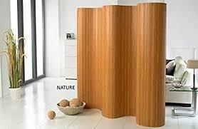 de commerce l doppelseitiger bambus paravent bxh 244 cm x 185 cm l raumteiler l trennwandl faltwand l shoji l sichtschutz
