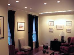 interior can lights living room with upholstery chairs