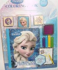 DISNEY FROZEN COLORING AND ACTIVITY BOOK WITH WOODEN STAMPS