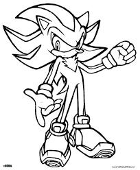 Shadow The Hedgehog In Sonic Coloring Page Free To Print
